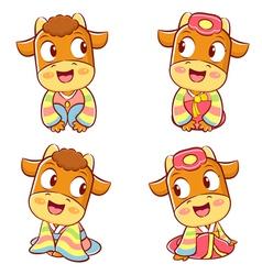 Korean traditional bulls event activities vector