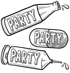 Drugs and alcohol party vector