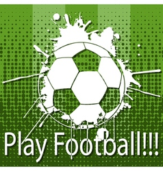 Play football vector