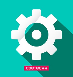 Cog - gear flat design symbol vector