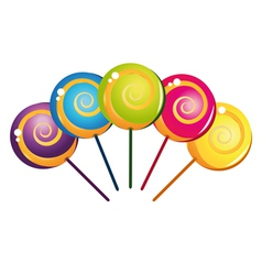 Colorful delicious lollipop collection vector