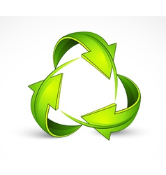 Green recycling symbol vector