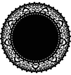 Black napkin vector