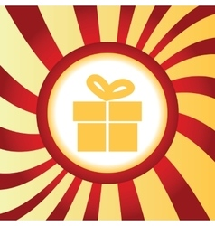 Gift box abstract icon vector
