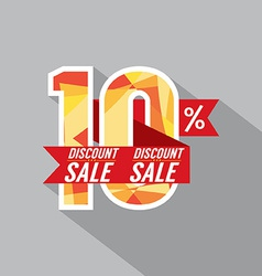Discount 10 percent off vector