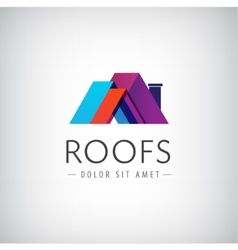Roofs house icon logo isolated vector