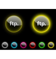 Ftp button vector