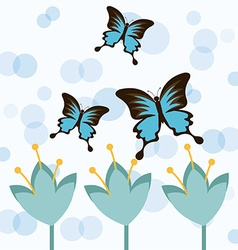 Butterflies card vector