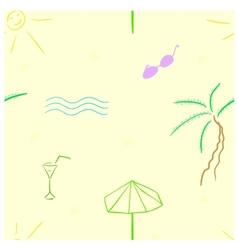 Beach seamless vector