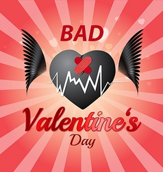 Bad valentines day vector