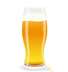 Lager beer vector