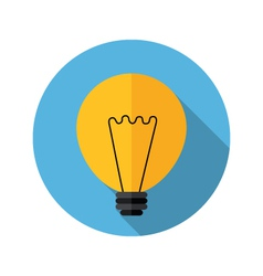 Lamp bulb icon vector
