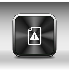 Security warning in browser icon alert application vector