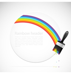 Banner with rainbow brush vector