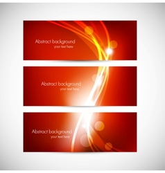 Set of abstract red banners vector