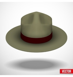 Ranger hat khaki green color vector