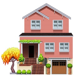 A big residential house vector