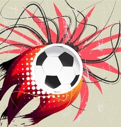 Flying soccer ball vector