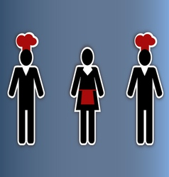Restaurant people collage vector