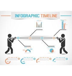 Infographic modern timeline man 2 vector
