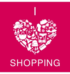 I love shopping vector