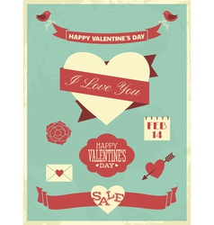 Valentines day collection vector