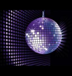 Disco ball purple vector