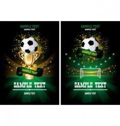 Soccer poster vector