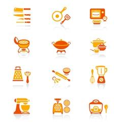 Cooking set - juicy series vector