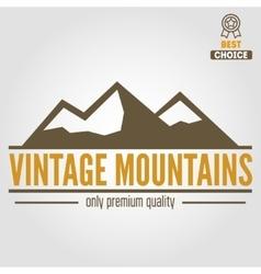 Vintage logo emblem label print or logotype vector