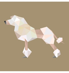 Origami puddle dog vector