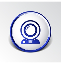 Camera video icon web insight cam chat network vector