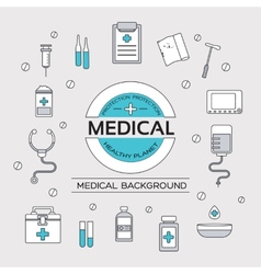 Set flat medical icons concept vector