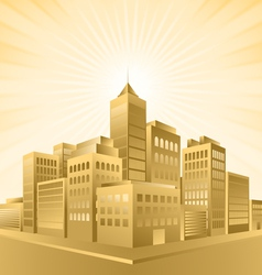 Golden town vector