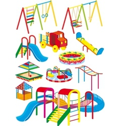 Playground set vector