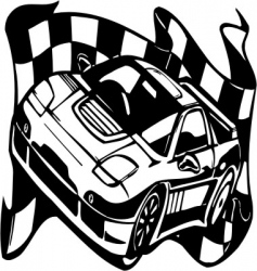 Street racing cars vector