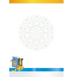 Winter box backdrop vector