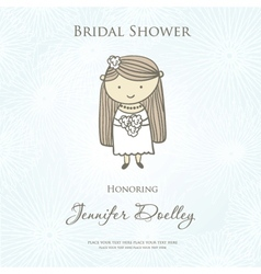 Bridal shower or wedding invitation with cute vector