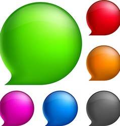 Glossy speech bubbles vector
