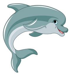 Jumping dolphin vector