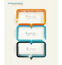 Text box set vector