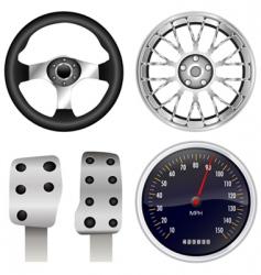Sport car parts vector