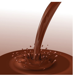 Chocolate flow background vector