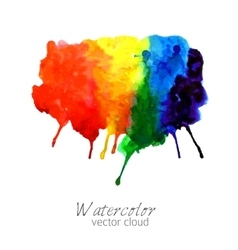 Abstract watercolor rainbow gradient stain vector