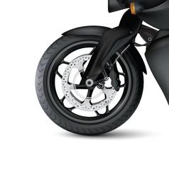 Realistic motorbike wheel vector