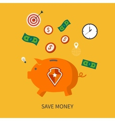 Protection and save is money business concept in vector