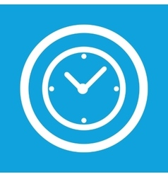 Clock sign icon vector