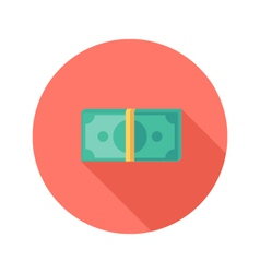 Money banknotes circle flat icon vector