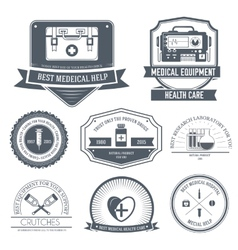 Medical label template of emblem element for your vector