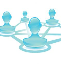 User network blue vector